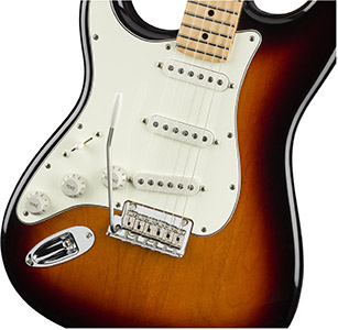 fender player stratocaster left handed mn 3 tone sunburst 3